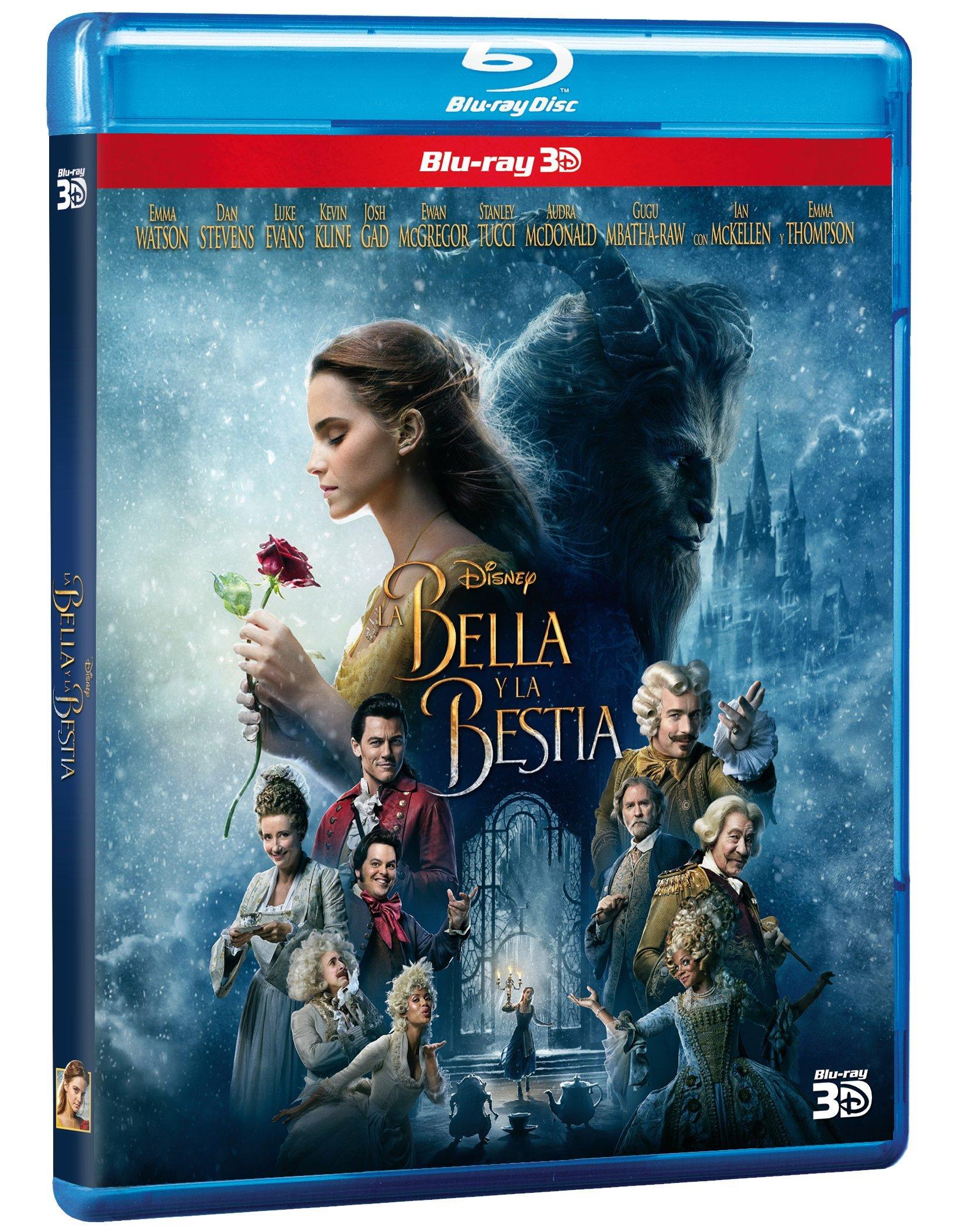 La Bella y La Bestia (Beauty and The Beast) BLU-RAY 3D - Starring Emma Watson (Audio & Subtitles: English and Spanish) IMPORT
