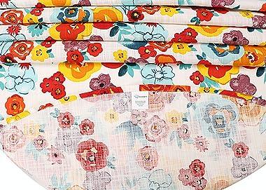 "Ruvanti Table Cloth 70"" Round 4-6 Seats, Premium Quality 100% Cotton Round Tablecloth, Washable,Reusable Table Cloths,Mul"
