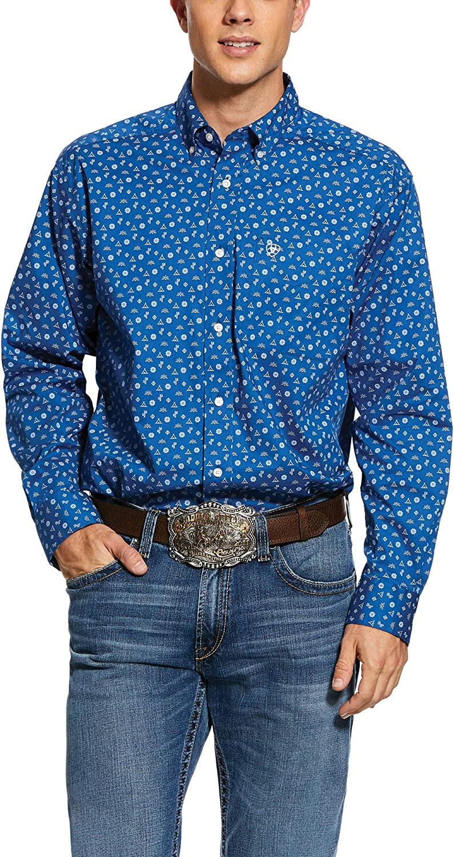 ARIAT Men's Gates Print Classic Super intense SALE Shirt Stretch Fit Cheap mail order shopping
