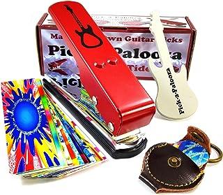 Pick-a-Palooza DIY Guitar Pick Punch Mega Gift Pack - the Premium Pick Maker - Leather Key Chain Pick Holder, 15 Pick Stri...
