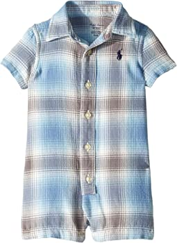 Plaid Cotton Twill Shortall (Infant)