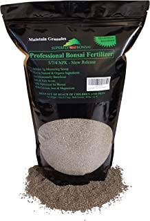 Bonsai Fertilizer - Slow Release - With Free 1g Scoop - Immediately fertilizes and then fertilizes over 1-2 months - Good For House Plants And Cactus (5 Pound 5-7-4)