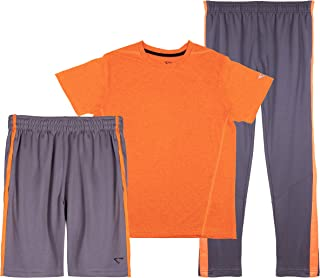 Cheetah Boys 3 Piece Athletic Mesh T-Shirt, Shorts, and Tapered Track Pants Set