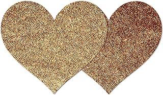 Nippies Style Coppertone Heart Waterproof Self Adhesive Nipple Cover Pasties