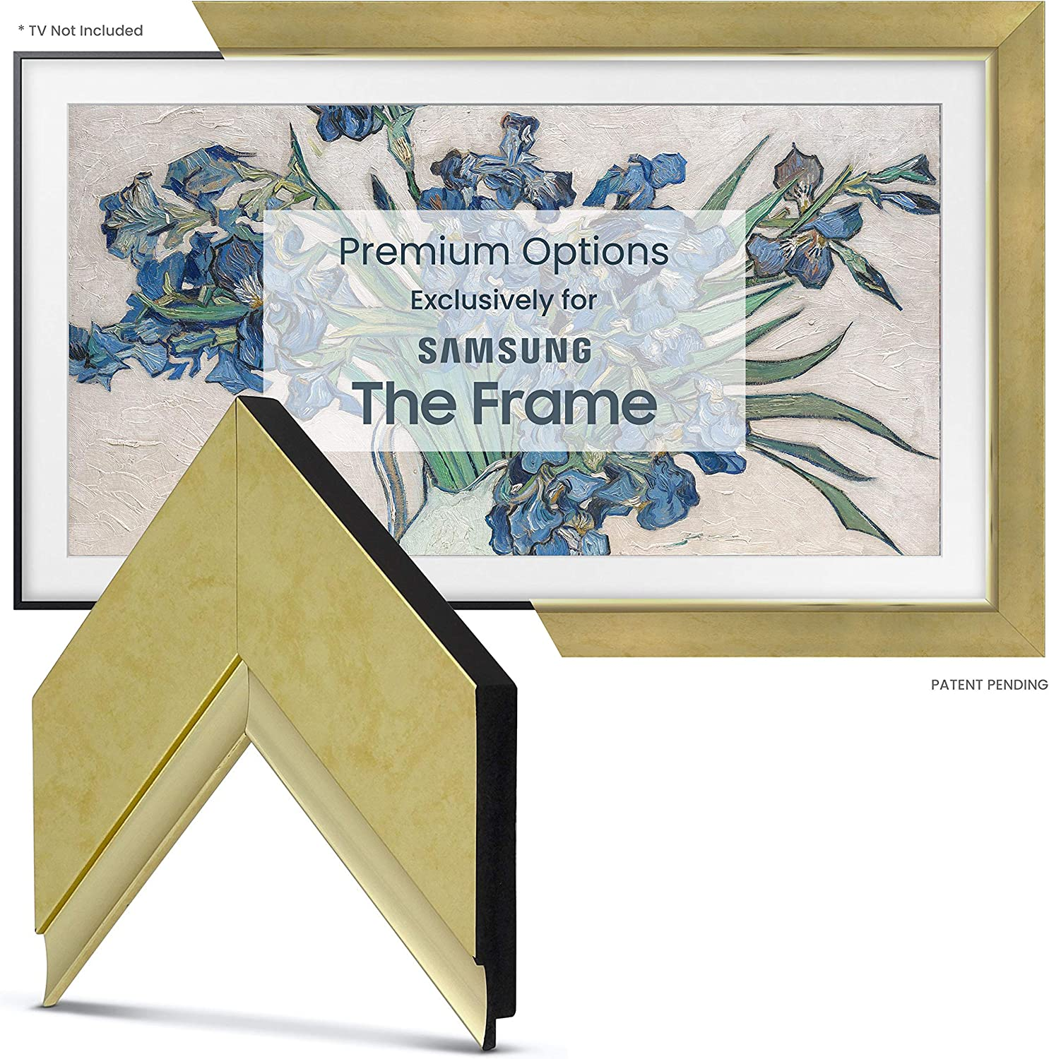 Deco TV sale Frames - Boston Mall Contemporary Gold ONLY Compatible w Smart Frame