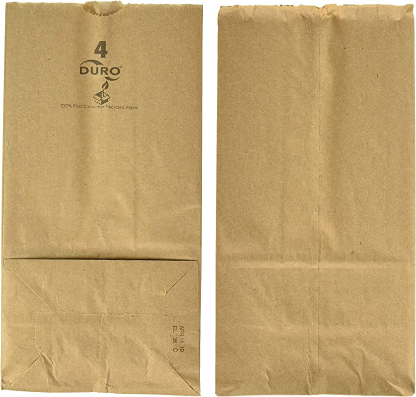 Duro Paper Bags Sack Lunch Bags 4 Lb Brown 500 Count