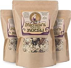 Michele's Granola Muesli, Toasted Muesli Cereal, 16 Oz Package, Pack of 3