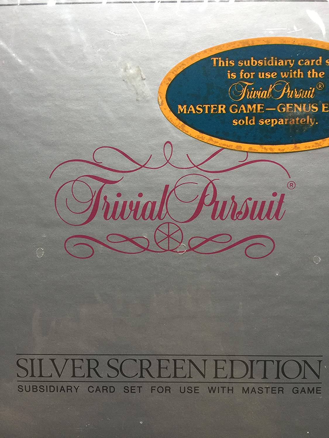 Parker Bredhers Trivial Pursuit Silver Screen Edition subsidiary Card Set