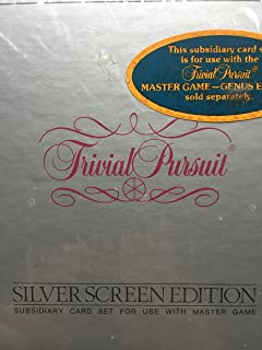 Parker Brothers Trivial Pursuit Silver Screen Edition Subsidiary Card Set