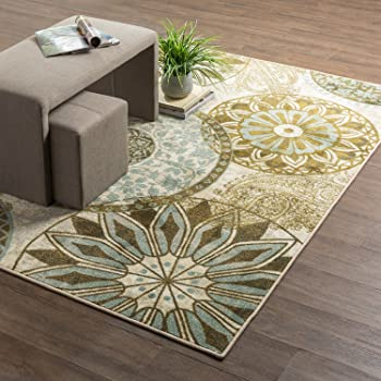 Mohawk Home Inspired India Light Medallion Printed Area Rug