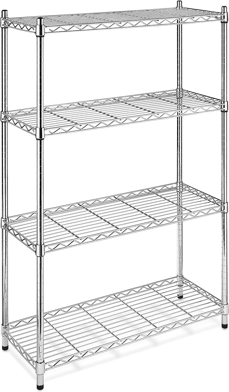 Whitmor Supreme 4-Tier Shelving, Chrome