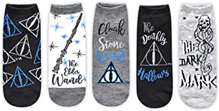 Harry Potter The Deathly Hallows Juniors/Womens 5 Pack Ankle Socks Size 4-10