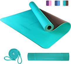 PROIRON yogamat trainingsmat sportmat antislip fitnessmat TPE materiaal, Pilates mat, 183 x 66 x 0,6 cm / 183 x 80 x 0,6 cm
