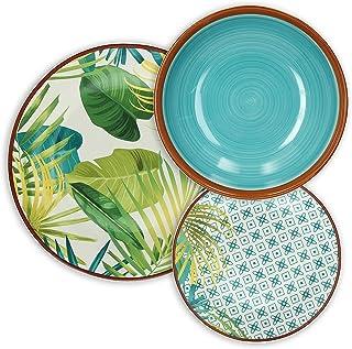 Tognana Jungle Service de table 18 pièces, porcelaine, multicolore