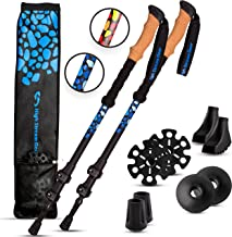 High Stream Gear Trekking Poles Real Cork Grip Handles Designed by Professional Walkers and Hikers – Ultra-Lightweight – Telescopic Compact, Hiking Poles