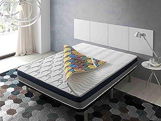 ECODE Topper Viscoelástico Renueva colchón Tourmalina 4D 150x190 - Disponible en Todas Las Medidas