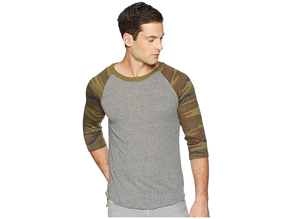 Alternative Printed Baseball Tee (Eco Grey/Camo) Men