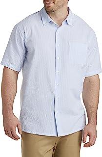 Oak Hill by DXL Big and Tall Seersucker Stripe Sport Shirt