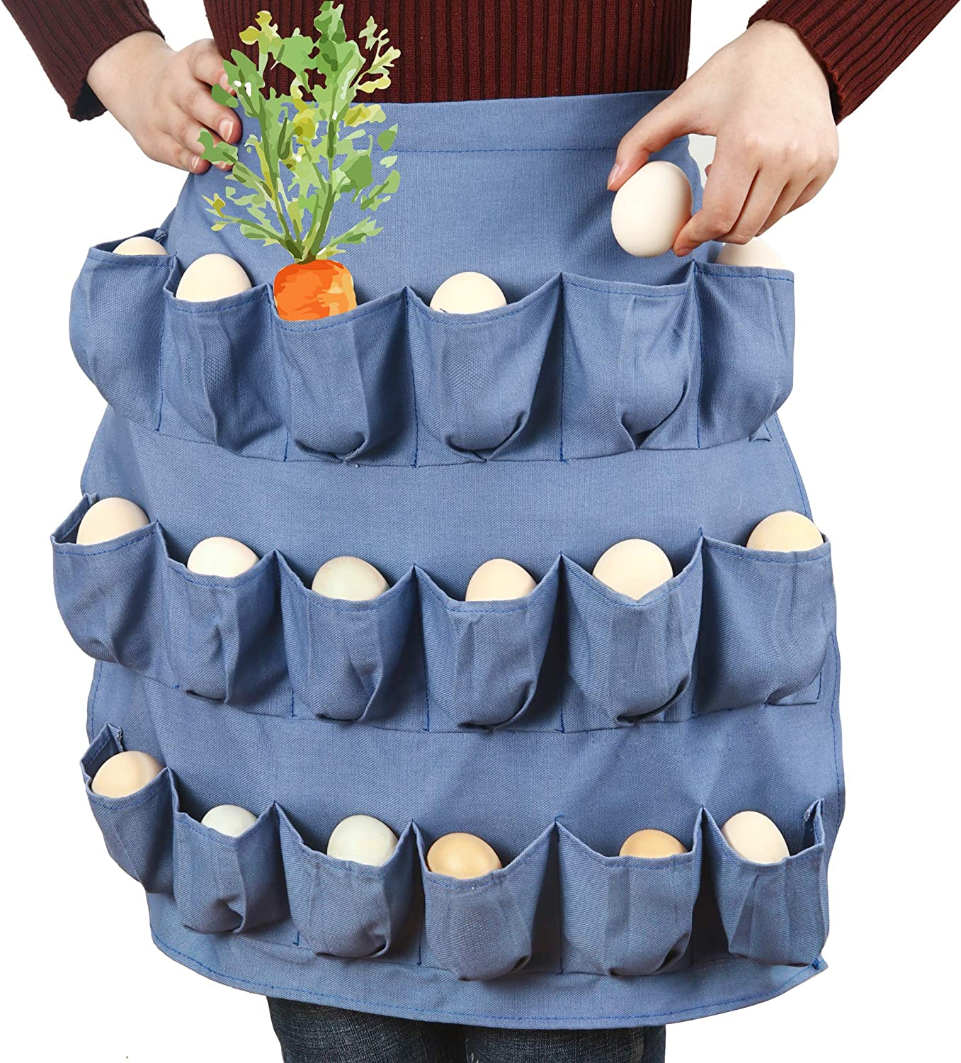 Egg Apron for At the price Fresh Japan Maker New Eggs with Double Extra-large Pocke Suture 18