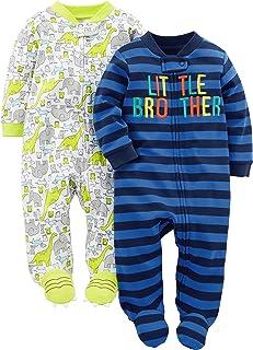 2-Pack Cotton Footed Sleep and Play Bebé-Niños, Pack de 2