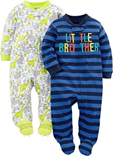 Baby Boys' 2-Pack Cotton Footed Sleep and Play
