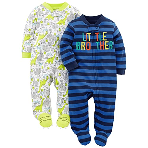 4797513cd Simple Joys by Carter's Baby Boys' 2-Pack Cotton Footed Sleep ...