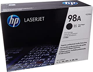 HP 98A (92298A) Black Original LaserJet Toner Cartridge DISCONTINUED BY MANUFACTURER (Renewed)