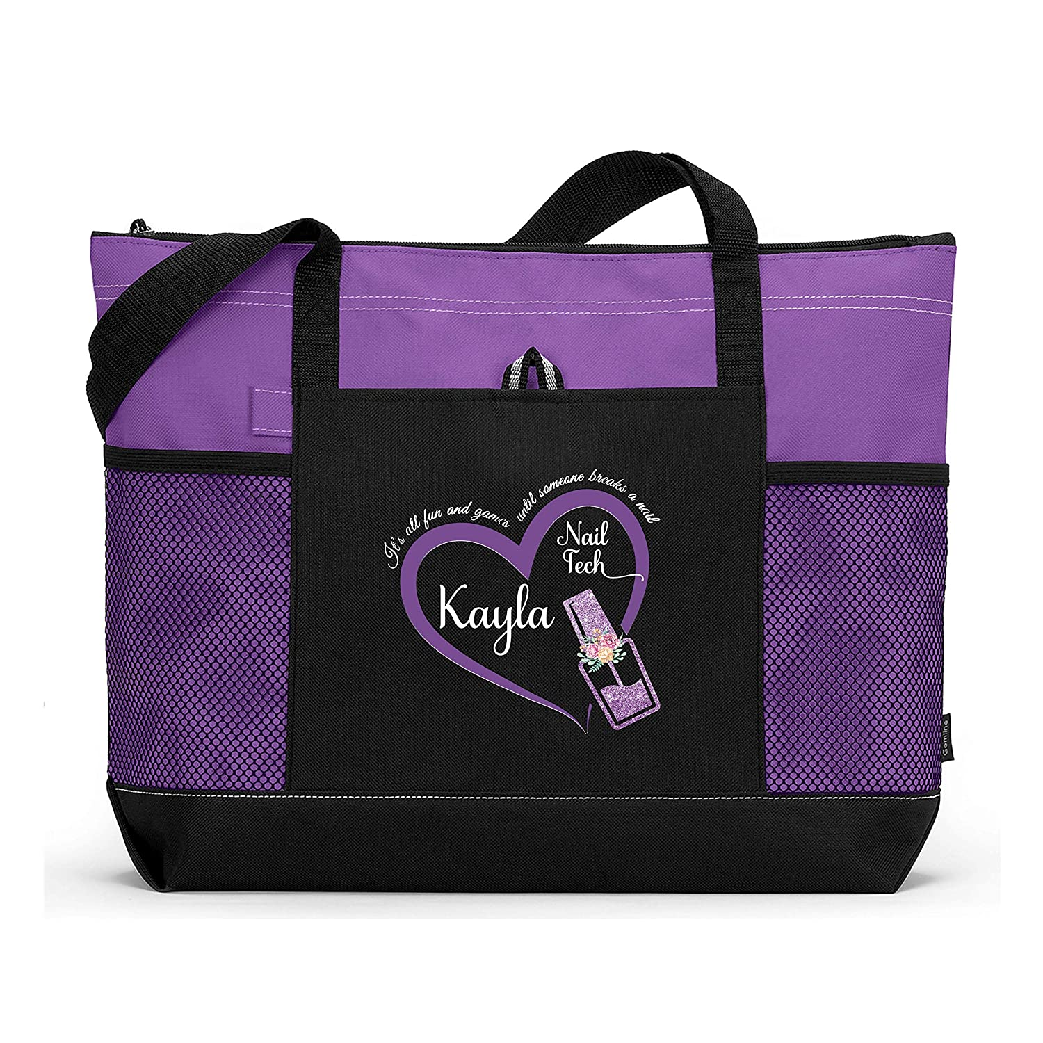 Very popular! Nail Tech It's All Fun Games wit Tote Bag Personalized Printed Popular standard