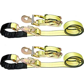 Keeper 04106 8 x 2 Auto Ratchet Tie-Down with Snap Hooks