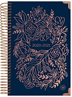 HARDCOVER bloom daily planners 2020-2021 Academic Year Day Planner Calendar (July 2020 - July 2021) - 6� x 8.25� - Passion/Goal Organizer - Monthly/Weekly Inspirational Agenda Book�- Navy Embroidery