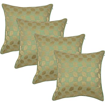 Set of 5 Indian Handmade 16X16 Broket Cotton Hippie Cushion Cover Home Decor