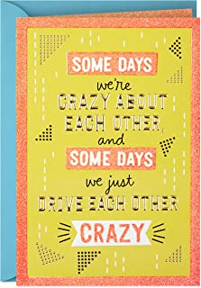 Hallmark Funny Love Card, Crazy (Romantic Anniversary Card or Birthday Card)