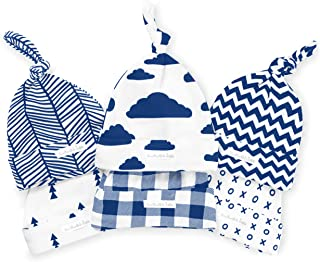 BaeBae Goods Baby Beanies – Newborn Baby Hats 6 Pack – Adjustable Baby Hats in Stylish, Unisex Designs – Baby Boy Hats wit...