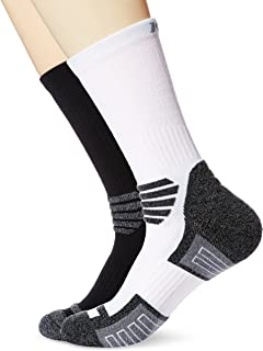 Kold Feet Men's 2-Pack Athletic Cushion Performance Crew Socks Comfort Fit for Running, Basketball, Hiking
