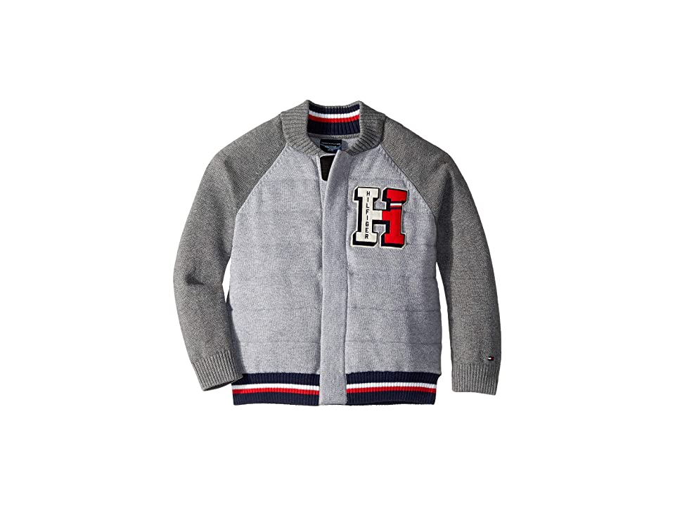 Tommy Hilfiger Adaptive H Sweater (Little Kids/Big Kids) (Medium Grey Heather) Men