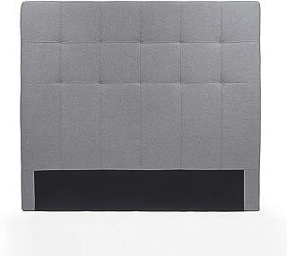 Cabecero Lyra tapizado en Tela con capitoné Color Gris 160 cm