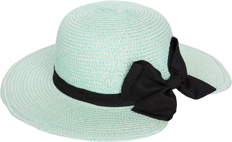 Aerusi Women's Wide Brim Floppy Sun Hat with Bow