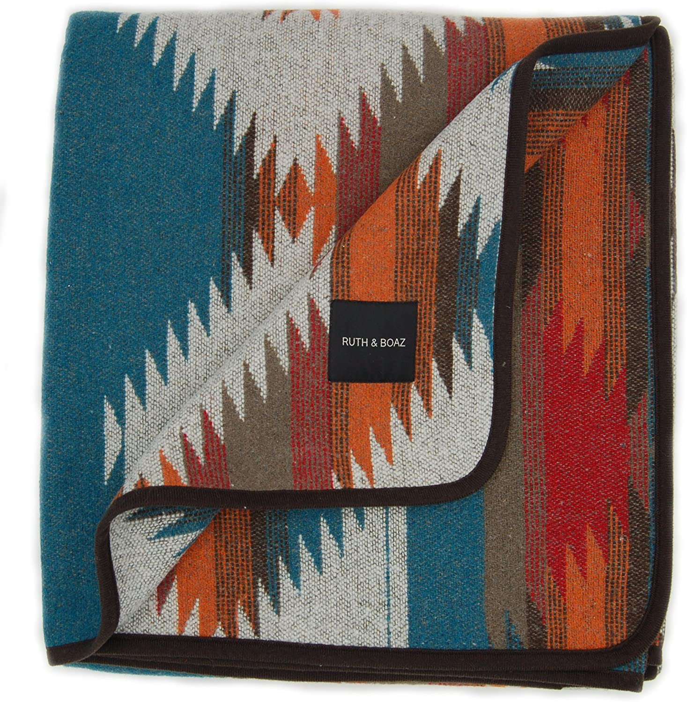 Ruth&Boaz Outdoor Wool Blend Blanket Ethnic Inka Pattern(M)