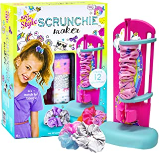Just My Style D.I.Y. Scrunchie Maker by Horizon Group USA, Design Your Own Colorful Satin Scrunchies Hair Bands, Easy-to-U...