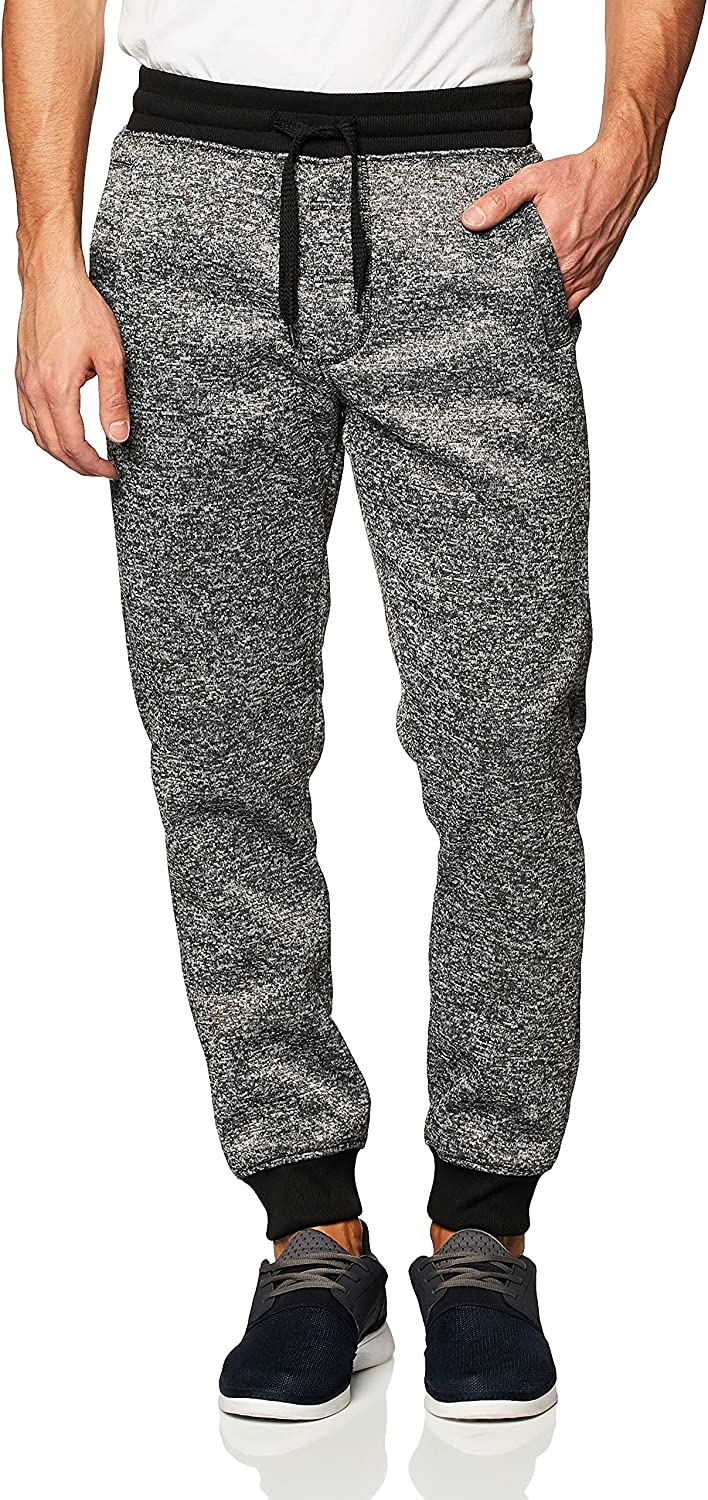 Southpole Men's Basic Fleece Marled Jogger Big and Don't miss the campaign Pant-Reg Ta New Free Shipping