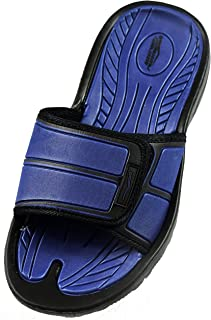 SLR Brands Men's Slide Slip On Sandal Slipper Comfortable Shower Beach Shoe Flip Flop