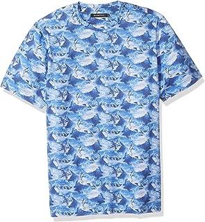 Bugatchi Men's Single Mercerized Cotton Jersey Ocean Print T-Shirt