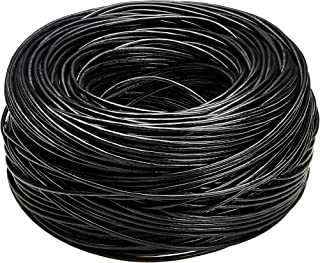 AmazonBasics Cat6 Ethernet Solid Bulk Cable (23 AWG, UTP) - 1000-Foot, Black
