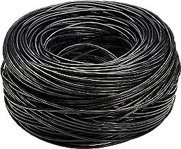 AmazonBasics Cat6 Ethernet Solid Bulk Cable (23 AWG, UTP) - 1000-Foot, Black