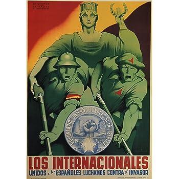 Cartel de arte en papel brillante A3 estilo vintage de propaganda de la guerra civil española