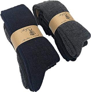 DREAM SOCKS, Calcetines cálidos largos de lana de 'angora para hombre y mujer, calcetines de invierno para el frío, fabricados en Italia (3 paquetes o 6 paquetes)