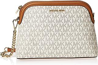 MICHAEL KORS Womens Large Zip Dome Xbody Bag, Vanilla/Acorn - 32H9GJ6C3B