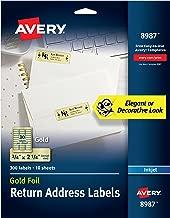 Avery Gold Address Labels for Inkjet Printers, 3/4