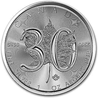2018 CA Canada 1 oz Silver Maple Leaf 30th Anniversary BU 1 OZ Brilliant Uncirculated