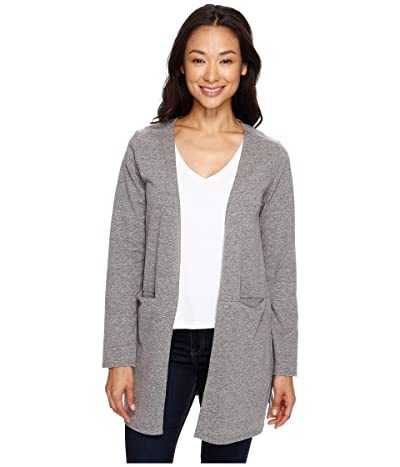 NAU Long Sleeve Slublime Cardigan (Tarmac Heather) Women